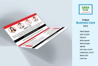Folded Business Card Template Or Fold Over Business Card Template pertaining to Fold Over Business Card Template