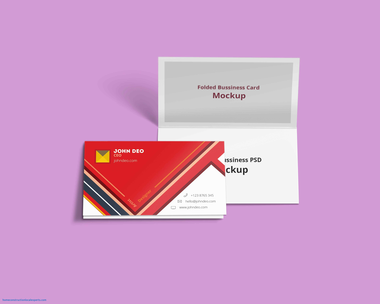 Folded Business Card Template Valid Fresh Fold Over Business Card For Fold Over Business Card Template