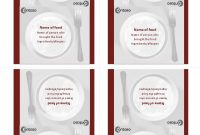 Folding Table Tents  Per Page pertaining to Word Anniversary Card Template