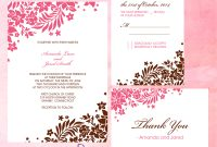 Foliage Borders Invitation Rsvp And Thank You Cards ← Wedding with regard to Free Printable Wedding Rsvp Card Templates