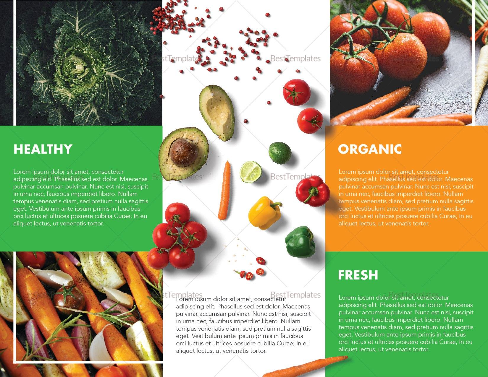 Food Brochure Design Template In Psd Illustrator Indesign Word Regarding Nutrition Brochure Template