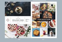 Food Menu Bifold — Adobe Illustrator Classic Print  Menu's inside Adobe Illustrator Menu Template