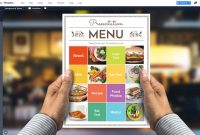 Food Menu Presentation Template  Prezibase throughout Restaurant Menu Powerpoint Template