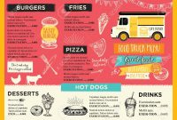 Food Truck Festival Menu Food Brochure Street Food Template throughout Food Truck Menu Template