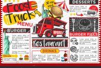 Food Truck Festival Menu Template Design Stockillustration intended for Food Truck Menu Template