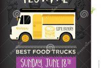 Food Truck Party Invitation Food Menu Template Design Food Fly in Food Truck Menu Template