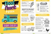 Food Truck Party Invitation Food Menu Template Design Food Fly regarding Food Truck Menu Template