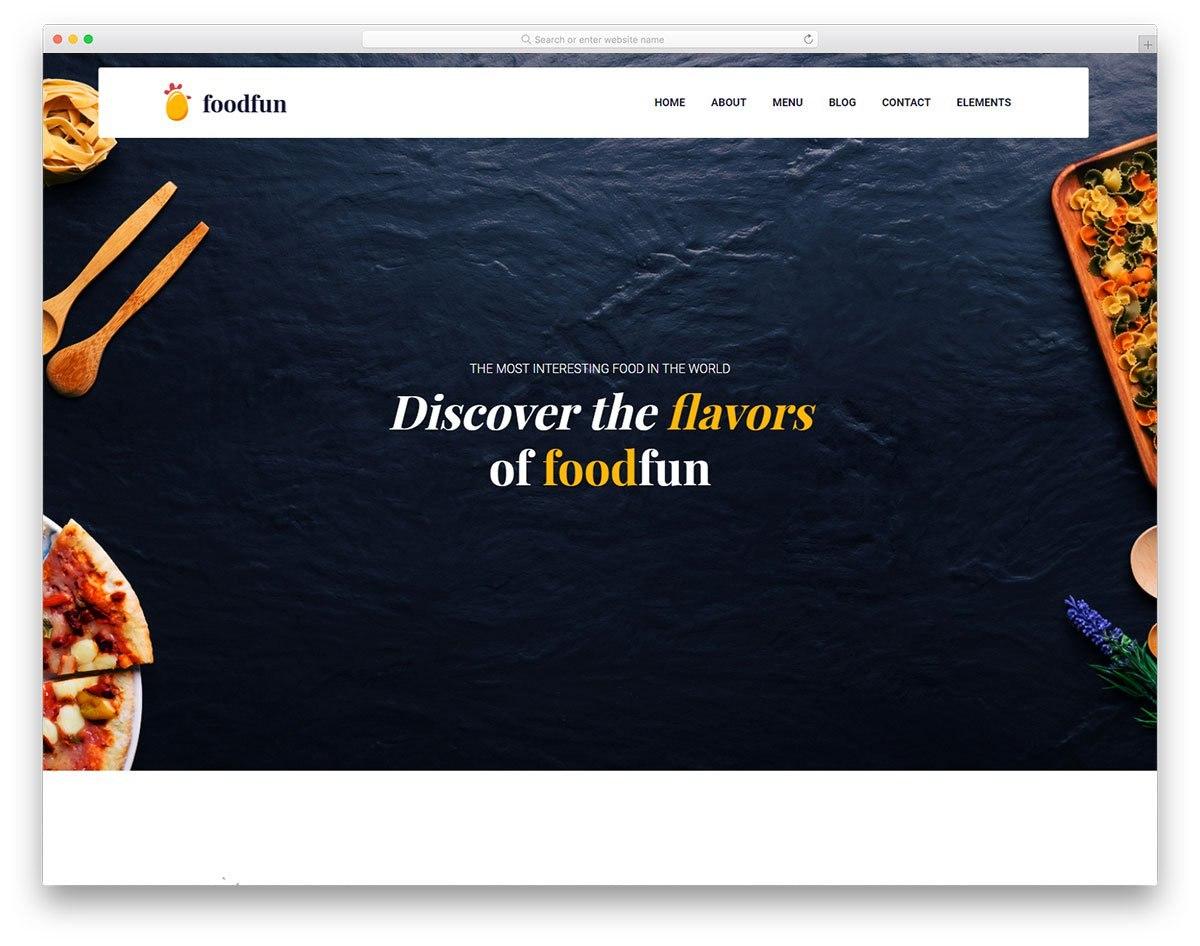 Foodfun  Free Food  Drink Website Template   Colorlib Inside Fun Menu Templates