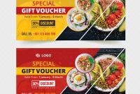 Foodrestaurant Gift Voucher Template Restaurant Food Gift in Pizza Gift Certificate Template