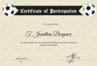 Football Certificate Templates Brochure Free Fantasy Award Template regarding Football Certificate Template