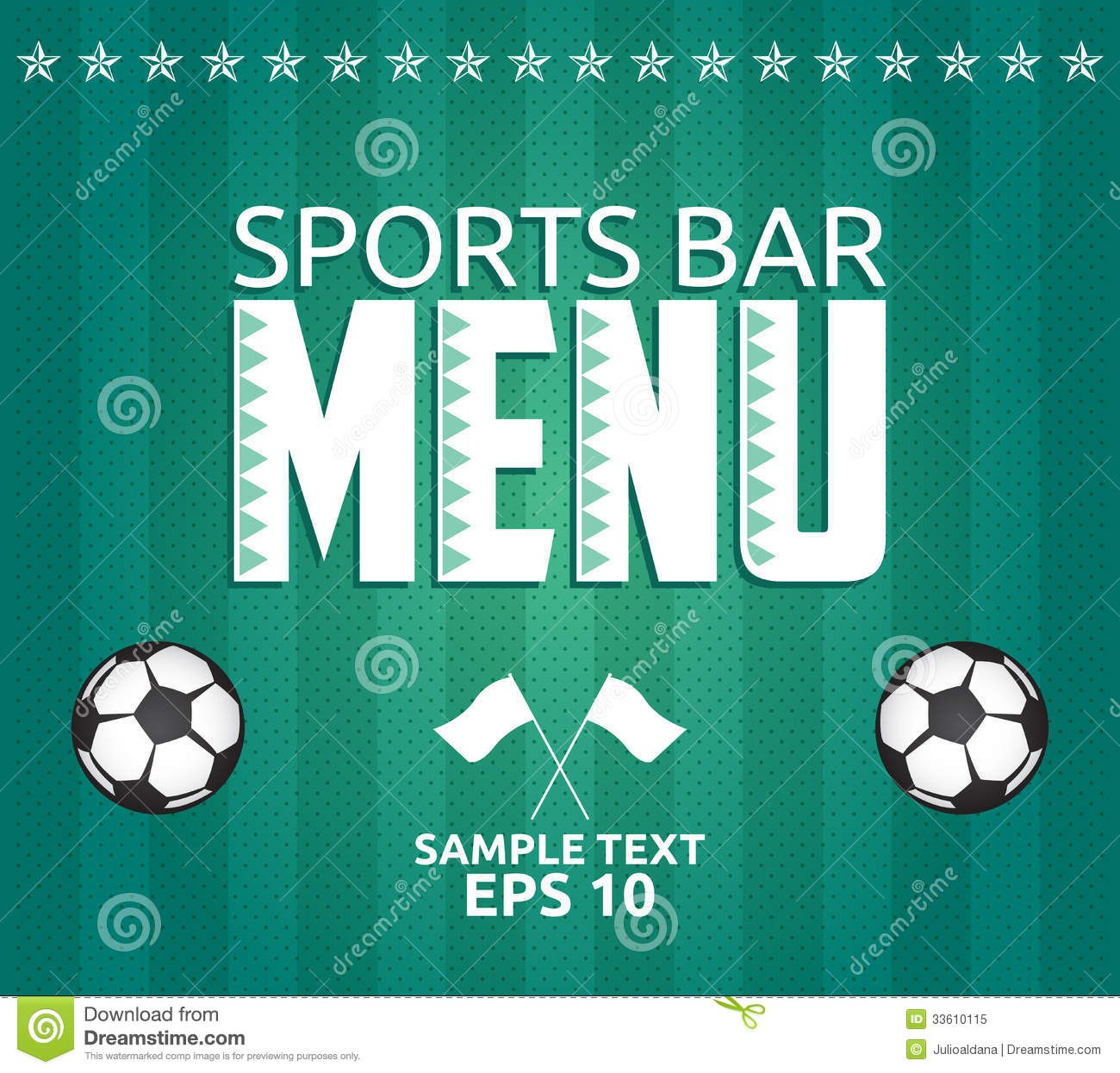 Football  Sports Bar Menu Card Design Template Stock Vector Within Football Menu Templates
