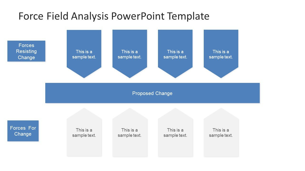Force Field Analysis Powerpoint Diagram  Slidemodel For Powerpoint Replace Template