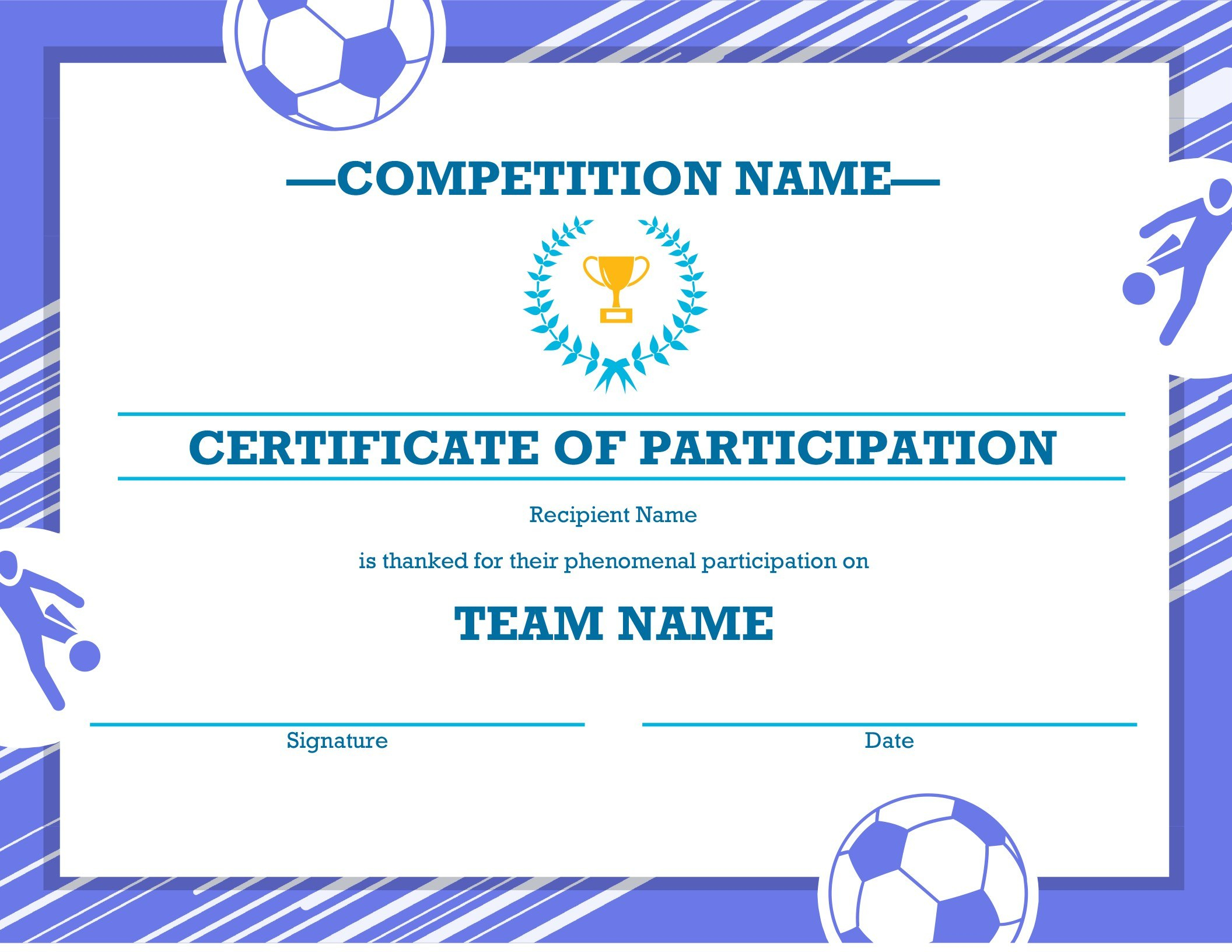 Four Sports Awards Certificate In Sports Award Certificate Template Word