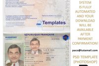 France Passport Template throughout French Id Card Template