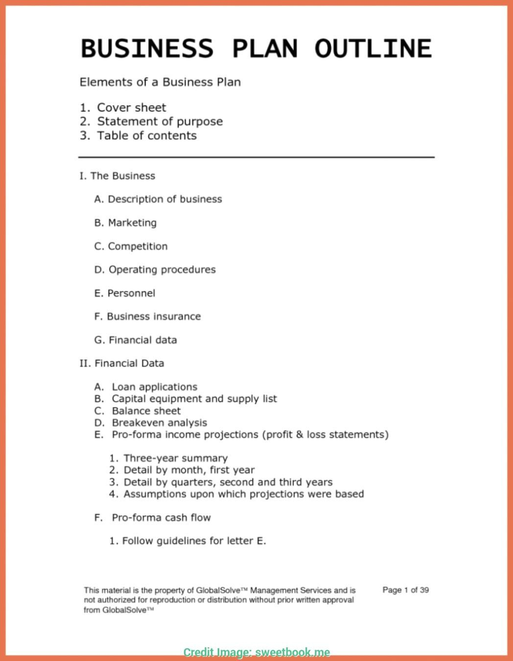 Franchising Beispiele Das Beste Von Business Plan Template For Intended For Business Paln Template