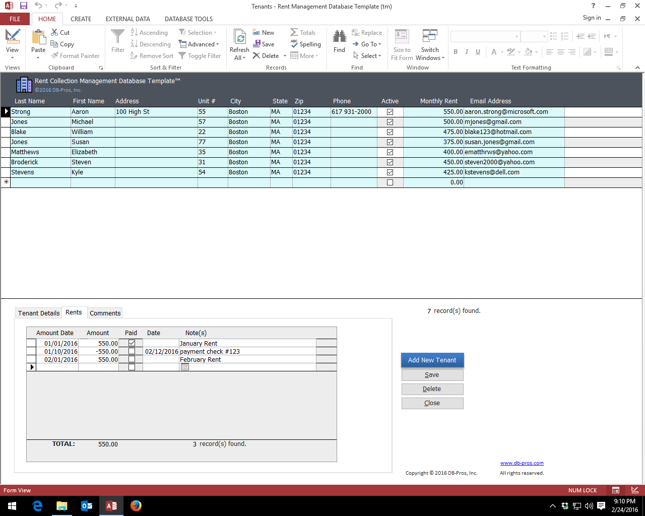Free Access Database Templates Template Ideas Rent Screenshot In Small Business Access Database Template
