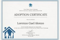 Free Adoption Certificate Template In Psd Ms Word Publisher  World throughout Adoption Certificate Template
