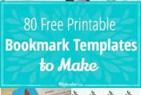 Free Amazing Bookmarks To Make Free Printables – Tip Junkie pertaining to Free Blank Bookmark Templates To Print