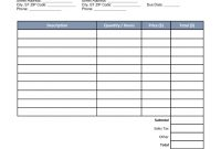 Free Auto Body Mechanic Invoice Template  Word  Pdf  Eforms for Garage Repair Invoice Template
