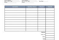 Free Auto Body Mechanic Invoice Template  Word  Pdf  Eforms throughout Mechanics Invoice Template