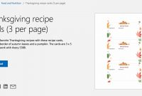 Free Autumn Theme Templates For Microsoft Office with regard to Free Recipe Card Templates For Microsoft Word
