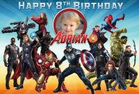 Free Avengers Birthday Tarpaulin  Dioskouri Designs within Avengers Birthday Card Template
