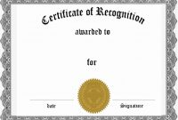 Free Award Certificate Templates  Culturatti throughout Blank Award Certificate Templates Word