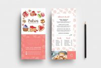 Free Bakery Dl Card Template  Psd Ai  Vector  Brandpacks regarding Free Bakery Menu Templates Download