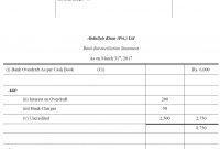 Free Bank Reconciliation Template Excel Statement Format Pdf Account in Business Bank Reconciliation Template