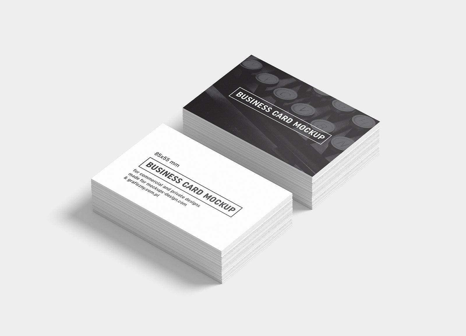 Free Black  White Business Card Mockup Psd Templates  Good Mockups Regarding Black And White Business Cards Templates Free