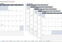 Free Blank Calendar Templates  Smartsheet pertaining to Blank Monthly Work Schedule Template
