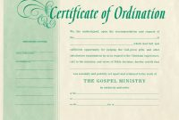 Free Blank Certificate Of Ordination For Minister License Template intended for Certificate Of License Template