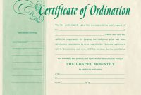 Free Blank Certificate Of Ordination  Ordination For Minister for Update Certificates That Use Certificate Templates