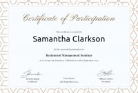 Free Blank Certificate Of Participation  Bahai Childrens Classes throughout Choir Certificate Template