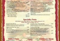 Free Blank Restaurant Menu Templates  Restaurant Menu Templates for 50S Diner Menu Template