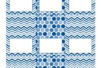 Free Blue And White Printable Tent Cards  Free Printables  Party pertaining to Free Printable Tent Card Template