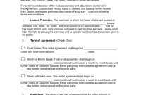 Free Booth Salon Rental Lease Agreement  Pdf  Word  Eforms in Commercial Lease Agreement Template Word