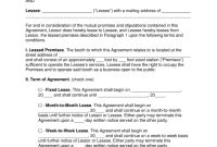 Free Booth Salon Rental Lease Agreement  Pdf  Word  Eforms Throughout Beauty Salon Booth Rental Agreement Template