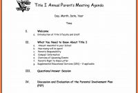 Free Business Meeting Agenda Template Word  Andrew Gunsberg throughout Event Agenda Template Word