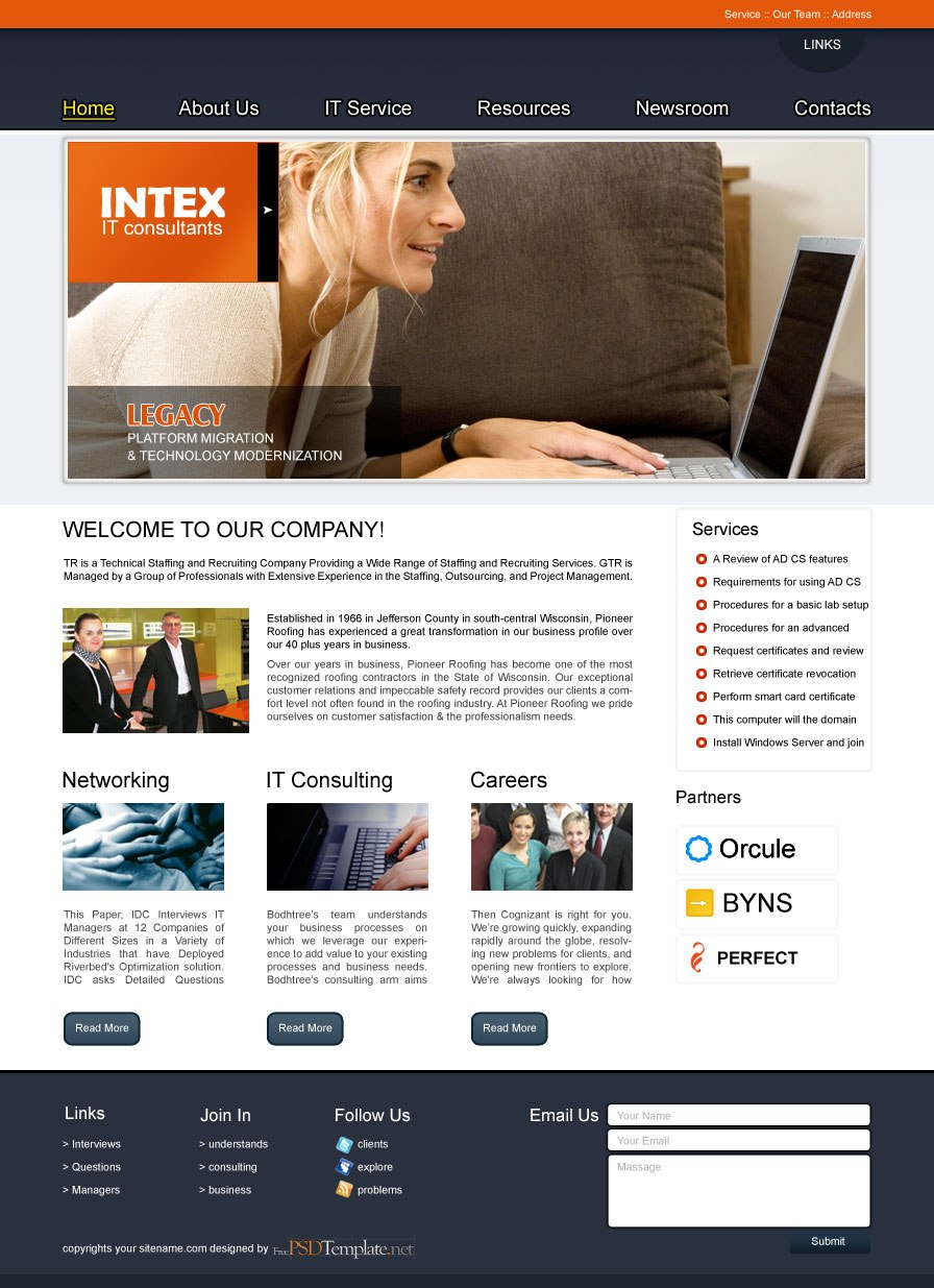 Free Business Psd Web Template – Free Psd Web Templates Intended For Free Psd Website Templates For Business