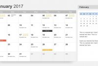 Free Calendar  Template For Powerpoint throughout Microsoft Powerpoint Calendar Template