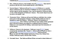 Free California Sublease Agreement Template  Pdf  Word Doc inside Sublease Commercial Agreement Template