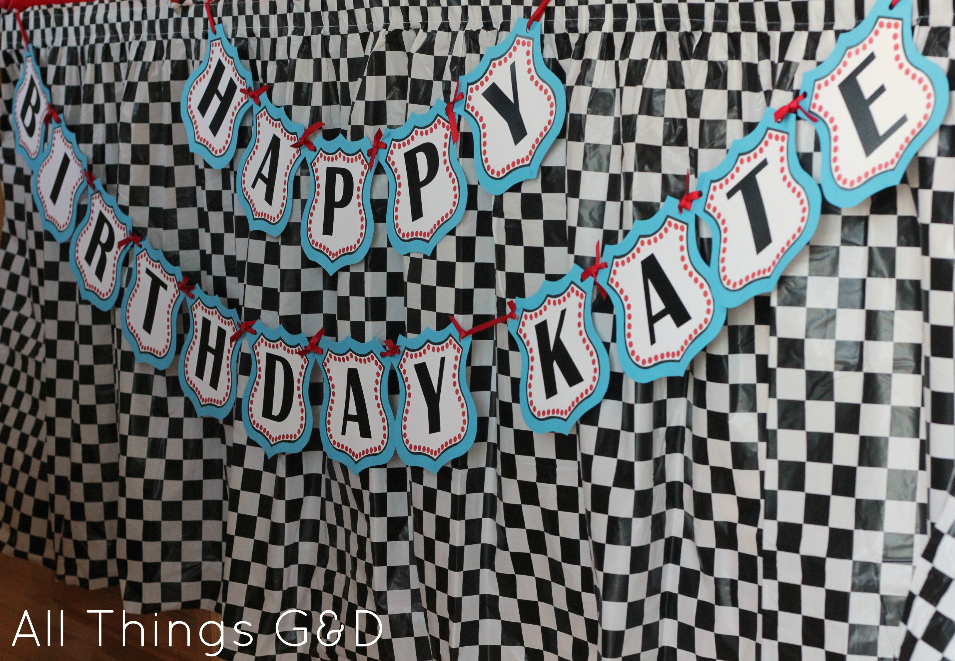 Free Cars Birthday Party Printables With Cars Birthday Banner Template