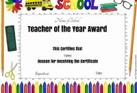 Free Certificate Of Appreciation For Teachers  Customize Online throughout Teacher Of The Month Certificate Template