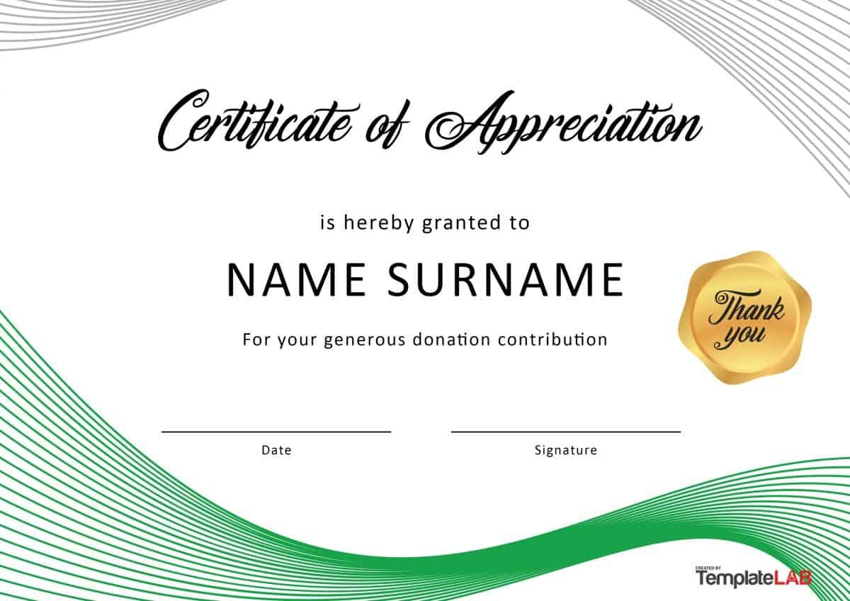 Free Certificate Of Appreciation Templates And Letters Throughout Certificate Of Recognition Word Template