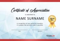 Free Certificate Of Appreciation Templates And Letters with Formal Certificate Of Appreciation Template
