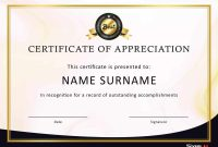 Free Certificate Of Appreciation Templates And Letters with regard to Certificate Of Appreciation Template Doc