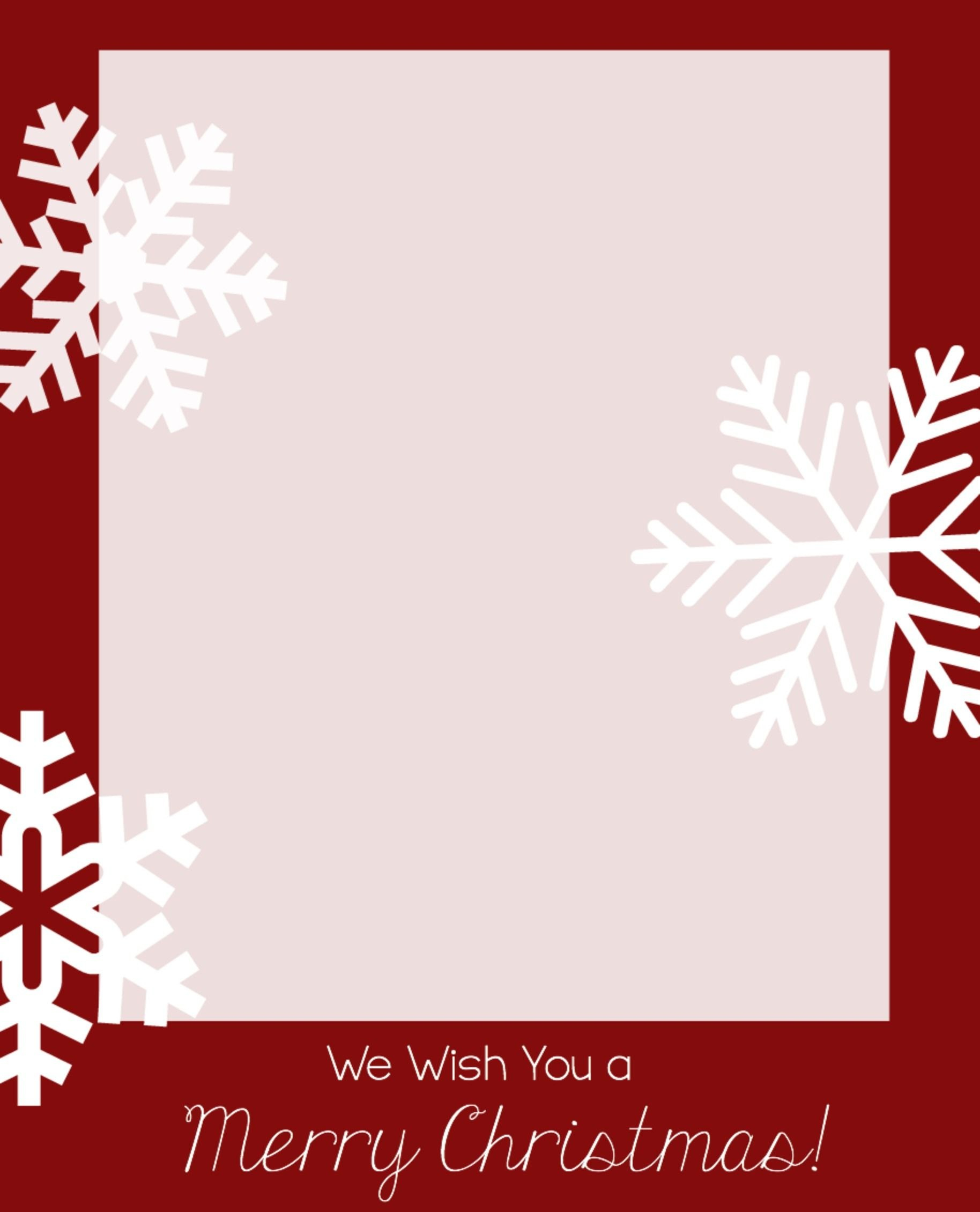 Free Christmas Card Templates  Christmas Is In The Air  Christmas With Printable Holiday Card Templates