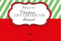 Free Christmas Gift Certificate Template Customize Online Download for Free Christmas Gift Certificate Templates