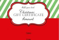 Free Christmas Gift Certificate Template  Customize Online  Download inside Homemade Christmas Gift Certificates Templates